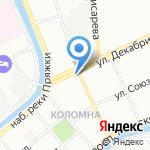 Многофункциональный центр предоставления государственных услуг Адмиралтейского района на карте Санкт-Петербурга