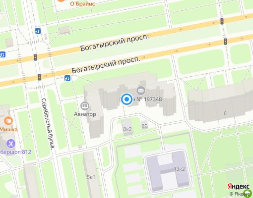 Жилищно-строительный кооператив «ЖСК №1050» на карте Санкт-Петербурга