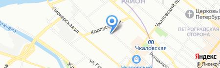 Медильер на карте Санкт-Петербурга