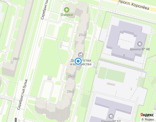 Товарищество собственников жилья «Серебристый 25» на карте Санкт-Петербурга