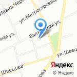 Балттекс на карте Санкт-Петербурга