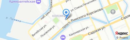 Квантум на карте Санкт-Петербурга