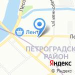 Ханса Строй на карте Санкт-Петербурга