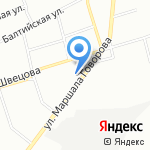 Невский лазер на карте Санкт-Петербурга