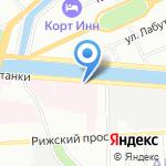 Петербургские львы на карте Санкт-Петербурга