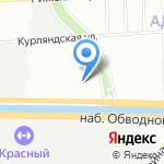Обводный Двор на карте Санкт-Петербурга