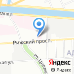 Старая книга на карте Санкт-Петербурга