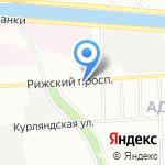 Торнадо-Р на карте Санкт-Петербурга
