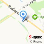 Маяк на карте Санкт-Петербурга