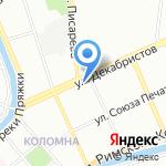 Яани кирик на карте Санкт-Петербурга