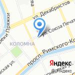 Средняя общеобразовательная школа №245 на карте Санкт-Петербурга