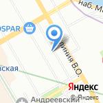 Петербургская Студия Грамзаписи на карте Санкт-Петербурга