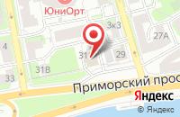 Схема проезда до компании ТФ ТРИО в Приморске
