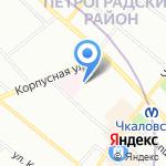 Детский сад №83 для детей с нарушением зрения на карте Санкт-Петербурга