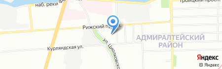 Салон-парикмахерская на карте Санкт-Петербурга