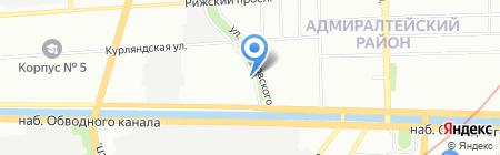 АКМА-Групп на карте Санкт-Петербурга