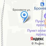 Коллективная автостоянка №6 на карте Санкт-Петербурга