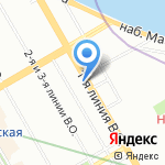 Студия Красоты Равиля Агмалова на карте Санкт-Петербурга