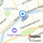 Альфа-свет на карте Санкт-Петербурга
