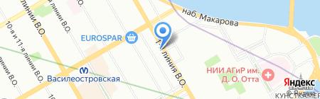 Остров стиля на карте Санкт-Петербурга