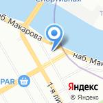 Тучков мост на карте Санкт-Петербурга