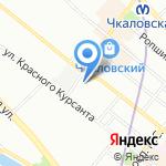 Учебно-курсовой комбинат Управления социального питания на карте Санкт-Петербурга