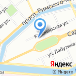 Риком на карте Санкт-Петербурга