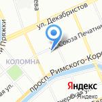 Высшая еврейская духовная семинария-Иешива Томхей Тмимим Любавич на карте Санкт-Петербурга