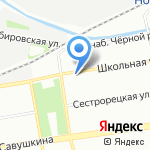 Мустанг на карте Санкт-Петербурга