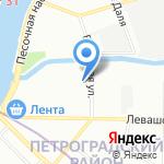 Арла Фудс Артис на карте Санкт-Петербурга