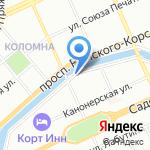 Салон оптики и цветов на карте Санкт-Петербурга