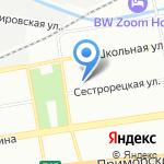 Муниципальное образование округ Черная речка на карте Санкт-Петербурга