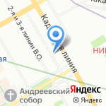 Авантаж на карте Санкт-Петербурга