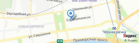 Бонапарт на карте Санкт-Петербурга