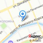 Муравей на карте Санкт-Петербурга