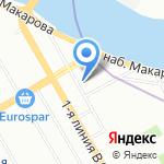 Восточный центр на карте Санкт-Петербурга