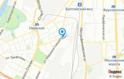 Местоположение на карте пункта техосмотра по адресу г Санкт-Петербург, ул Швецова, д 35