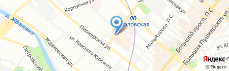 Греческий ободок на карте Санкт-Петербурга