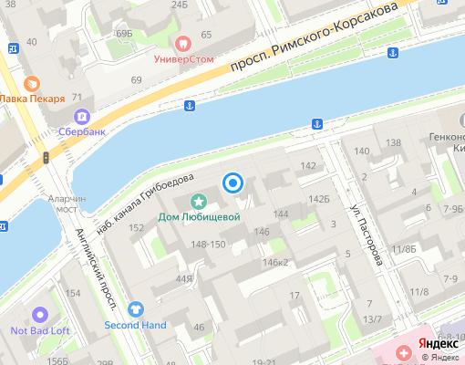 Товарищество собственников жилья «Грибоедова 146» на карте Санкт-Петербурга
