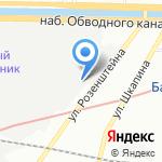 Торговый дом Комфорт на карте Санкт-Петербурга