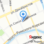 Магазин посуды и сантехники на карте Санкт-Петербурга