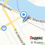 Принт Мэйл на карте Санкт-Петербурга