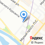 Офицерский на карте Санкт-Петербурга