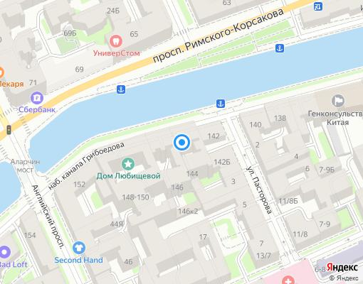 Товарищество собственников недвижимости «Грибоедова 144» на карте Санкт-Петербурга