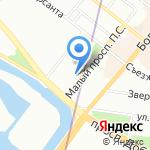 ЭТКИС на карте Санкт-Петербурга