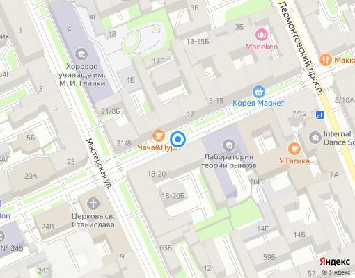 Товарищество собственников недвижимости «ТСН Союза Печатников, д. 25 А» на карте Санкт-Петербурга