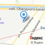 Швейная фабрика на карте Санкт-Петербурга