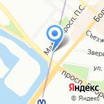 Proпорция на карте Санкт-Петербурга