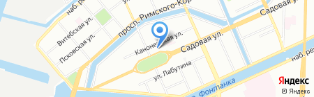 Клеопатра на карте Санкт-Петербурга
