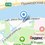 Каменный остров на карте Санкт-Петербурга